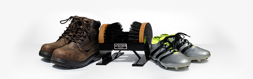Scrusher Shoe and Boot Cleaners - Mud Has Met Its Match!